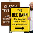 Custom Metal Sign - Add Text And Instructions