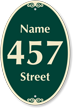 Customizable Name and Street Number Signature Sign