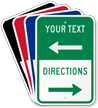 Customizable Parking Lot Directions Sign