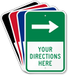 Customizable Parking Lot Directions Sign, Right Arrow