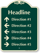 Custom Parking Lot Directory Signature Sign