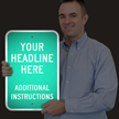 Custom Reflective Sign - Add Headline And Instructions