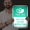 Custom Reflective Sign - Add Logo And Instructions
