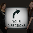 Custom Reflective Sign - Choose Arrow, Add Directions