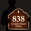 Customizable Road Name and Number Palladio Sign
