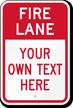 Customizable Fire Lane Warning Message Sign