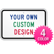 Customizable 4-Color Printed Horizontal Aluminum Sign