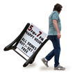BigBoss Standard Deluxe Portable Rolling Swinger Sidewalk Sign and Letter Kit