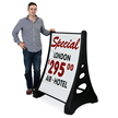 Quick-Load A Frame Sidewalk Sign - White Deluxe
