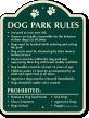 Dog Park Rules Signature Sign
