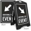Down Arrow Pointing Right Event Parking Sidewalk Sign