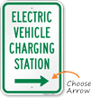 Electric Vehicle Charging Station At Right Sign