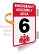 Emergency Assembly Area Number Six Sign