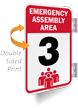 Emergency Assembly Area Number Three Sign