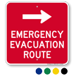Emergency Evacuation Route Right Arrow