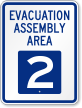 Evacuation Assembly Area 2 Emergency Sign