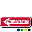 Evacuation Route Left Arrow Sign
