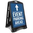 Event Parking Ahead Sidewalk Sign