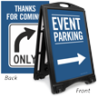 Event Parking To Right Sidewalk Sign