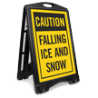 Falling Ice Snow A-Frame Portable Sidewalk Sign Kit