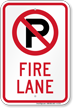 Fire Lane Sign (no parking symbol)