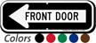 Front Door Left Arrow Directional Sign