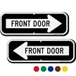Front Door Right Arrow Directional Sign