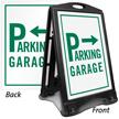 Garage Parking Directional Sidewalk Sign