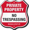 Georgia Private Property Shield Sign