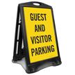 Guest And Visitor Parking Sidewalk Sign