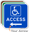 Access Left Arrow Directional Sign