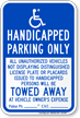 Handicapped Parking Only, Reserved Parking Sign