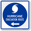 Hurricane Evacuation Route Left Arrow Sign