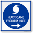 Hurricane Evacuation Route Right Arrow Sign