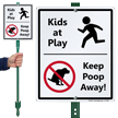 Kids At Play With Graphic Sign