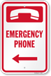 Emergency Phone Sign