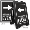 Left Arrow Event Parking Sidewalk Sign
