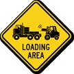 Loading Area Caution Sign