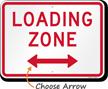 Loading Zone, Bidirectional Parking Restriction Sign