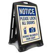 Lock All Doors Remove Valubles Sidewalk Sign Kit