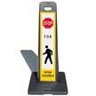 LotBoss Stop Pedestrian Crosswalk Portable Kit