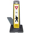 LotBoss Yield Pedestrian Crosswalk Portable Kit