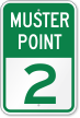 Emergency Muster Point 2 Sign