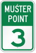 Emergency Muster Point 3 Sign