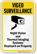 Night Vision Systems Deployed on Property Sign