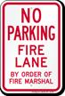 No Parking at Fire Lane Sign