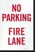No Parking, Fire Lane Sign Insert