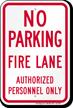 No Parking, Fire Lane Sign