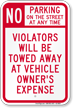 No Parking On Street Any Time Sign