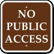No Public Access Campground Sign
